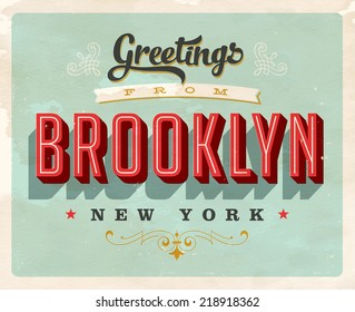 Vintage Touristic Greeting Card - JPG Version