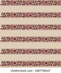 vintage traditional border embroidry design