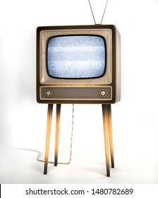 Vintage tv receiver 3d illustration