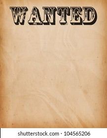 Vintage Wanted Poster Background