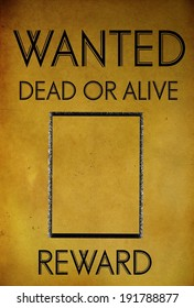 vintage wanted poster template background
