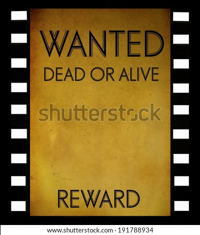 Royalty Free Stock Illustration Of Vintage Wanted Poster Template On