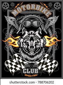 vintage Wolf motorcycle label