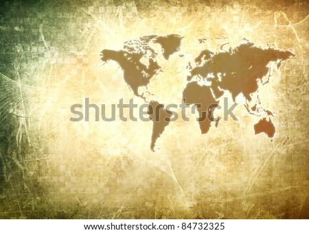 Vintage World Map Wallpaper Stockillustration 84732325 – Shutterstock