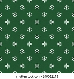 vintage wrapping paper with snowflake pattern