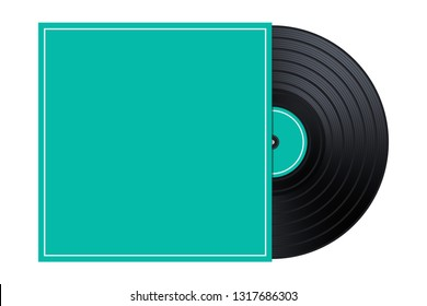 Vinyl in the Box  Cover Mockup Template Illustration
