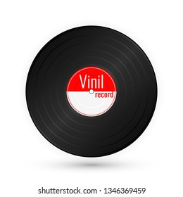 Vinyl music record. Vintage gramophone disc.