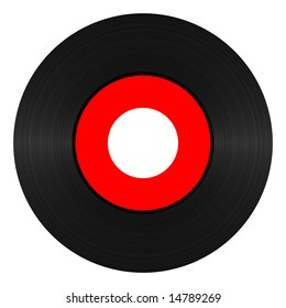 Vinyl record 45 RPM illustration over white background