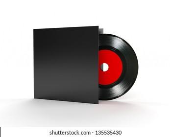 Vinyl record compact disk 3d render