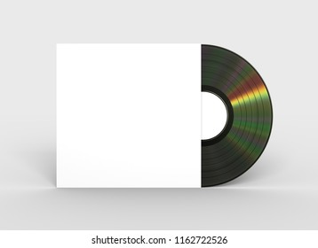 Vinyl Record In Paper Case. 3D Illustration.