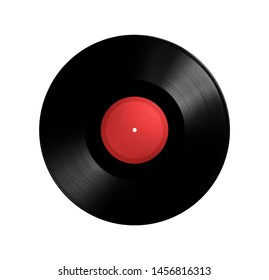 vinyl record with paper texture, isolated on white background