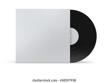 Vinyl Record Sleeve Mockup 3D illustration
