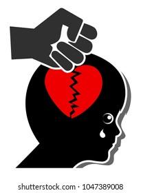 Violence kills Love. Child loses trust through corporal punishment