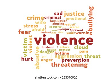 Violence word cloud