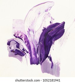 Violet abstract strokes hand pai