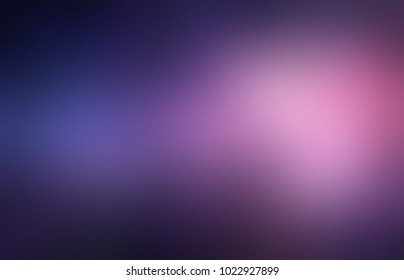 Violet pink glare twilight abstract texture. Dark vignette. Empty night gleam background. Blurred purple cosmic template. Defocused glow pattern.