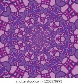 Violet Purple Transmutation Fractal Mandala Pattern Hypnotic Psychedelic