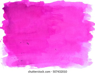 Violet saturated watercolor background, luscious palette. Abstract canvas with paper texture.