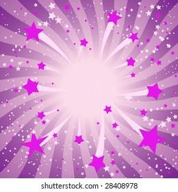 Violet starburst  design
