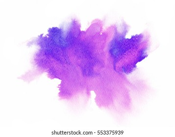violet watercolor background for textures and backgrounds