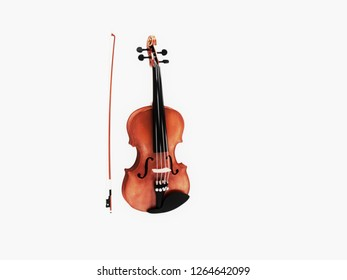 Violin with bow, 3d illustration
