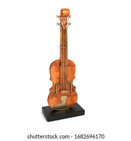 Violin Decor 3D Rendering Illustration