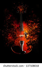 Violin is exploding - dispersion effect -