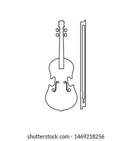 Violin Outline Images, Stock Photos & Vectors | Shutterstock