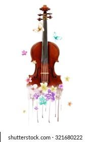 violin illustration.T-shirt Graphic.canvas print