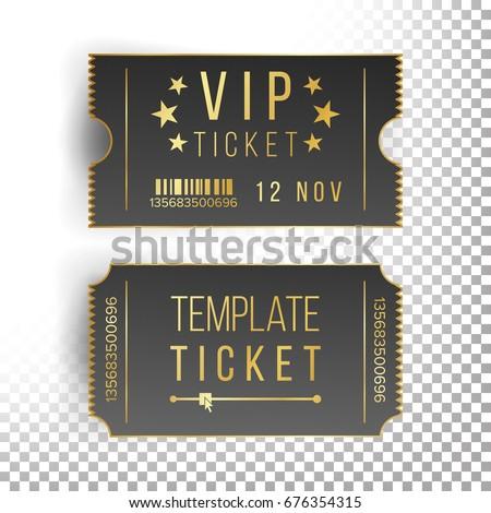 Vip Ticket Template Empty Black Tickets Illustration De Stock De