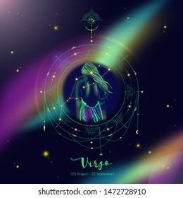 Virgo horoscope in the space for social media