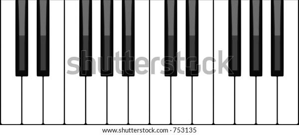 Virtual Piano Keyboard Stock Illustration 753135