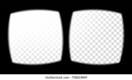 76f5cb8ea0 Virtual Reality Glasses Sight View. Stereoscopic Screen Frame Template.  Technology Design VR Concept For