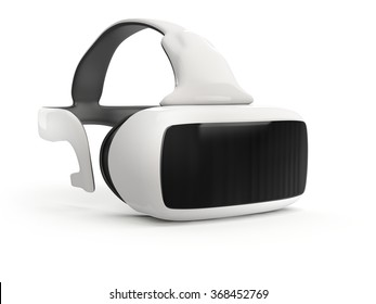 virtual reality headset on white background