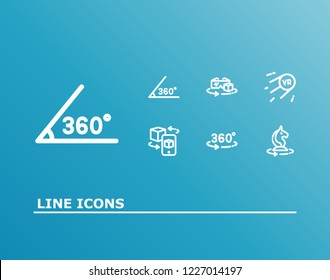 Virtual reality icon set and vr future with 360 angle, ar vr and vr chess game. Futuristic related virtual reality icon  for web UI logo design.