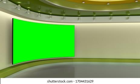 Virtual TV Studio 3D -Illustration