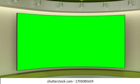 Virtual TV Studio 3D Illustration