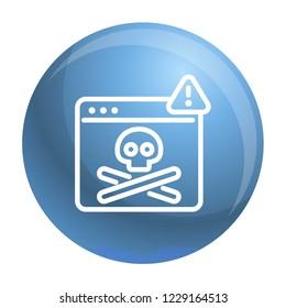Virus computer danger icon. Outline virus computer danger icon for web design isolated on white background