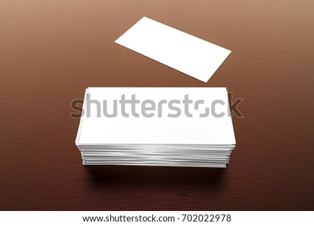 Visiting card blank mockup template on stock illustration 702022978 visiting card blank mockup template on a dark background 3d illustration flashek Images