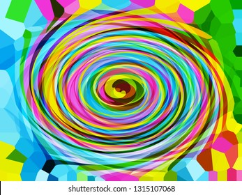 Visual powerful abstract pattern with hypnotic effect.