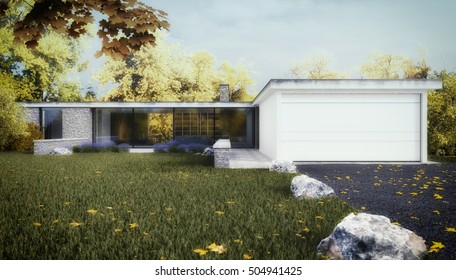 Visualization of a House - 3D rendering