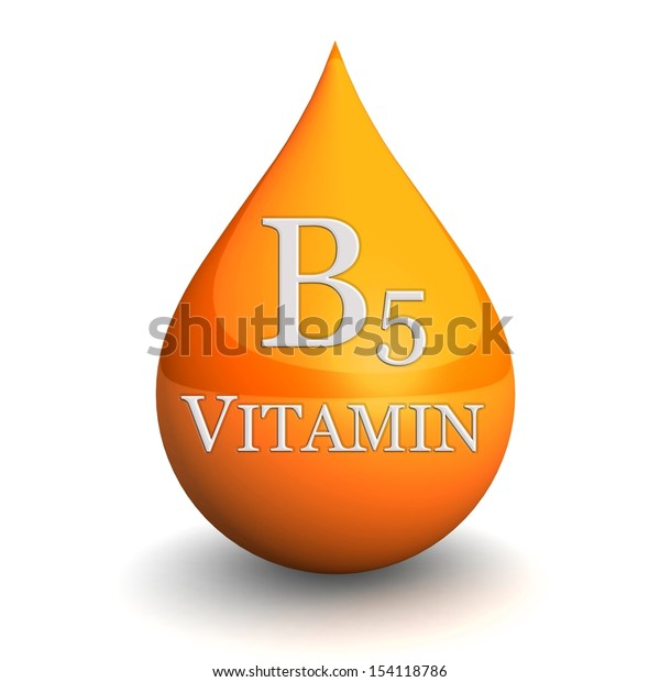 Vitamin B5, Isolated On White Background. 3d illustration