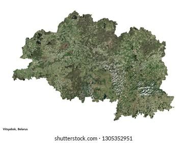 Vitsyebsk (Vitebsk), Belarus Map (3D illustration)