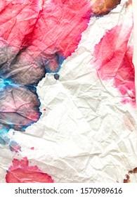 Vivid Kilim Illustration. Indian Ikat. Shibori Trendy Design. Dye Background Print. Ethnic Texture. Alcohol Ink Vintage Pattern. Watercolor Design.