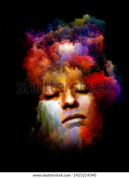 Vivid Portrait Inner Color Series Abstract Stock