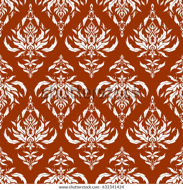 Vivid repeating - For easy making seamless pattern use it for filling any contours. Sketch in brown and white colors.