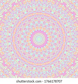 Vivid Trippy Ornate Colorful Mandala Art