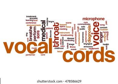 Vocal cords word cloud concept