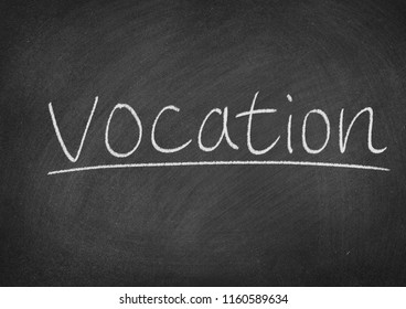 vocation concept word on a blackboard background