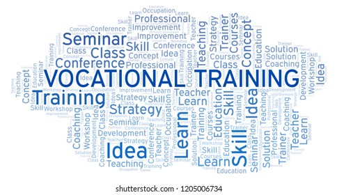Vocational Training word cloud.